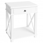 Manto Bedside Table White