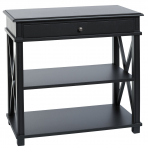 Manto Bedside Table Large Black