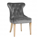 Lotus Upholstered Dining Chair Charcoal