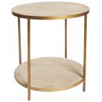 Manhattan Rattan Round Lamp Table Gold