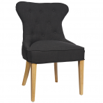 Haven Buttonback Dining Chair Charcoal