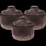 Lune Venice Vases Amethyst Set/3 Sml
