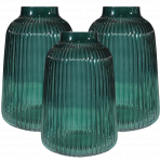 Lune Venice Vases Jade Set/3 Lrg