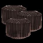Lune Gem Vases Amethyst Set/3 Sml