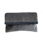 Mansour Fringe Clutch Grey