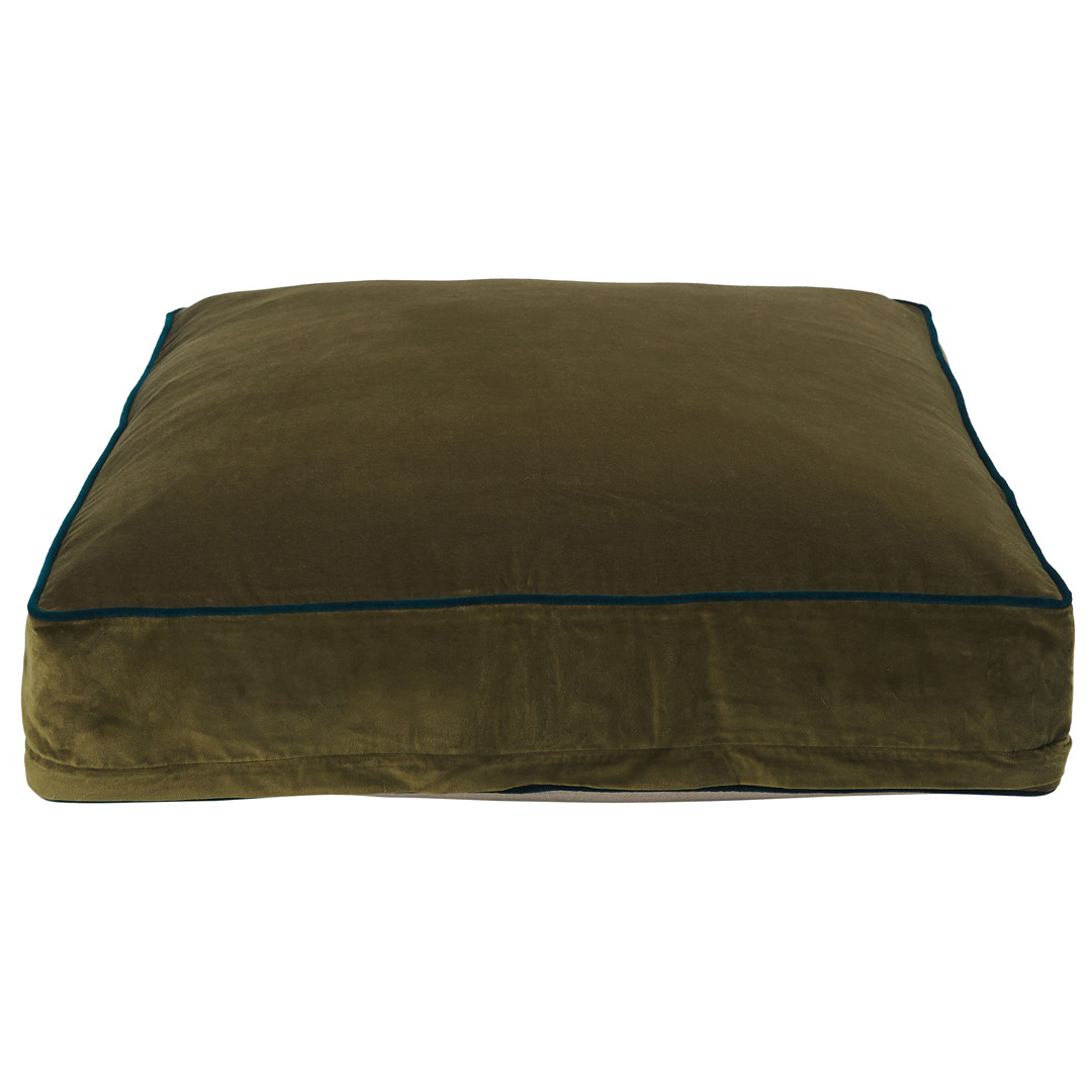 Classic Square Floor Cushion Olive