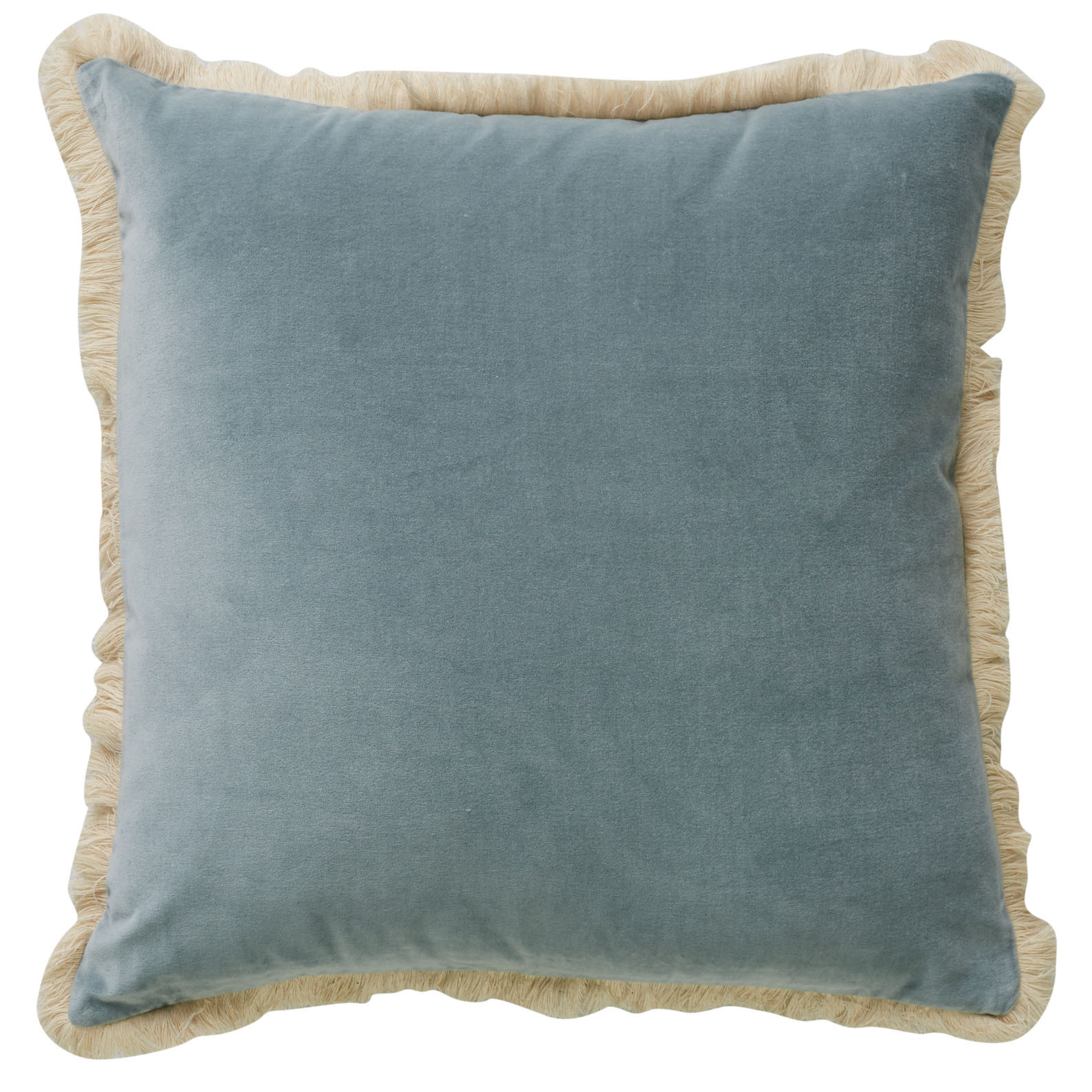 Figue Fringe Cushion Sky