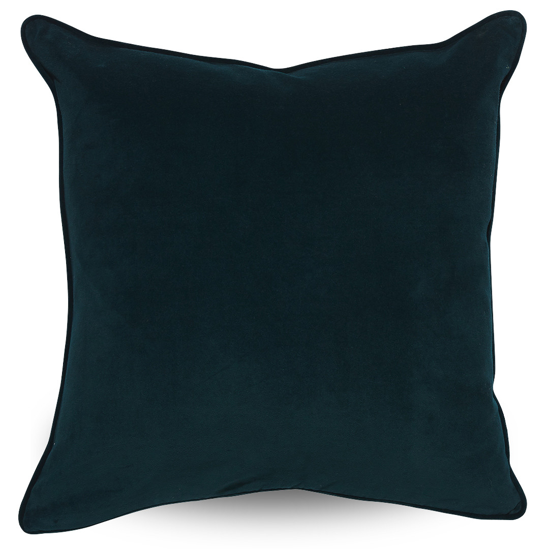 Rambagh Classic Velvet Cushion Dark Teal