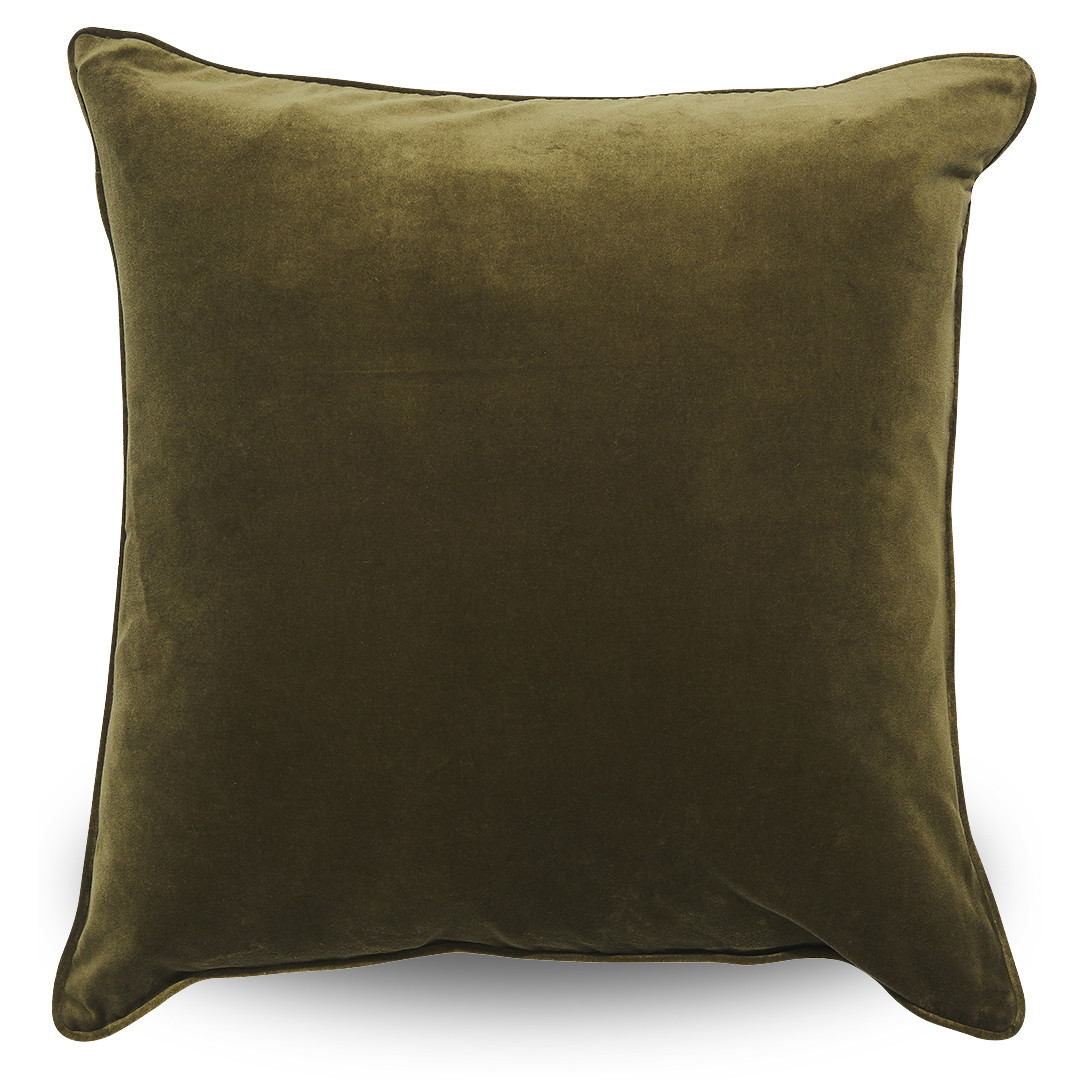 Rambagh Classic Velvet Cushion Olive