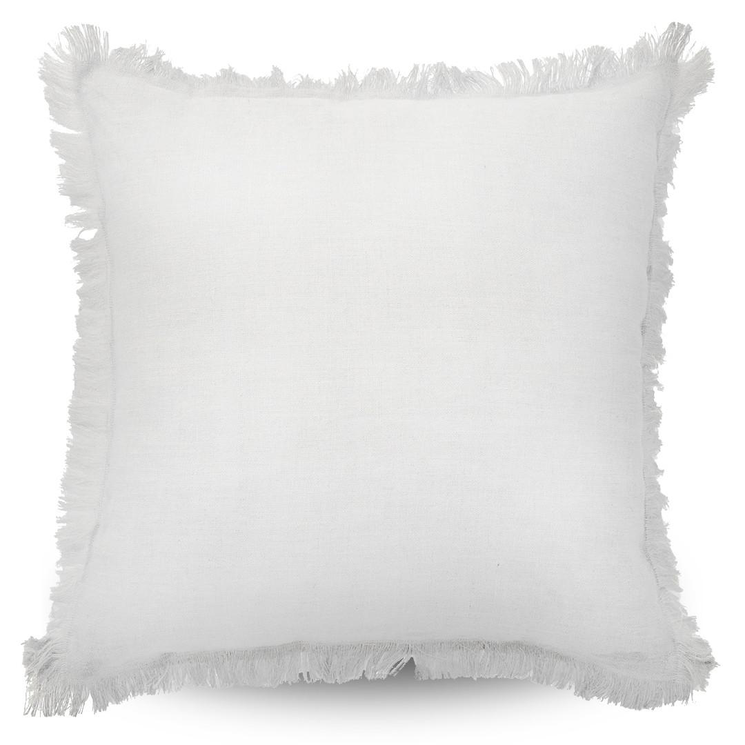 Monaco Fringe Cushion White