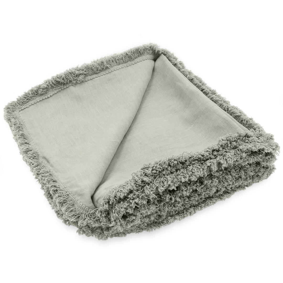 Patina Fringe Tablecloth Mint Large