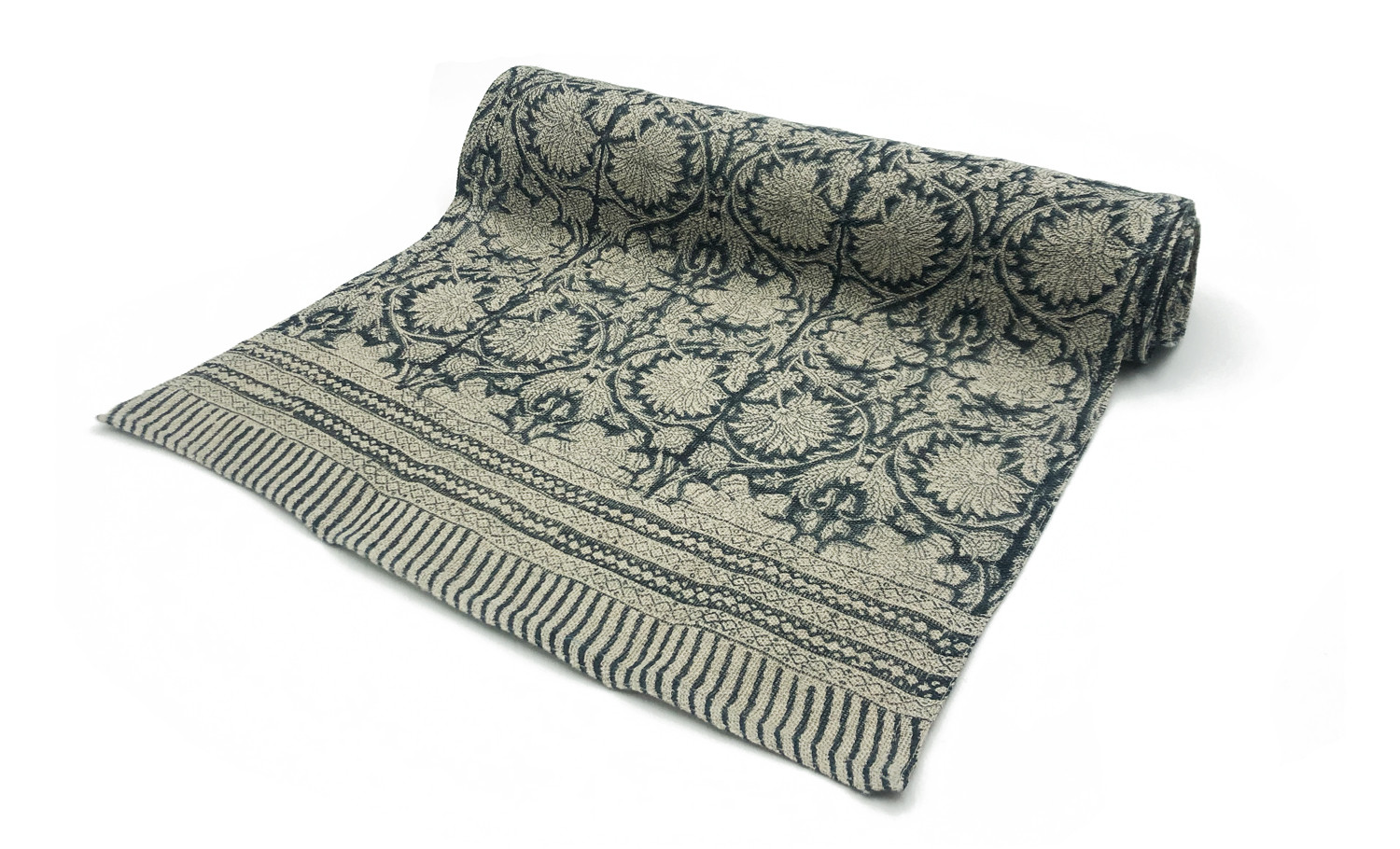 Verne Table Runner Navy